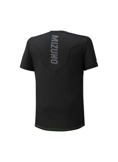 Mizuno Aero Tee Erkek T-Shirt Turuncu/Siyah Siyah